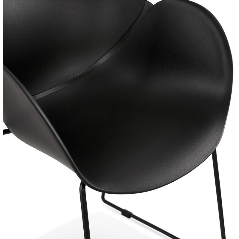 CIRSE design chair in polypropylene black metal feet (black) - image 43276