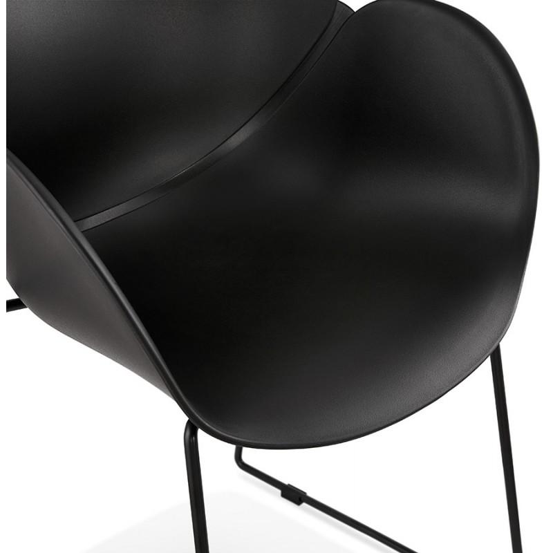 Chaise design CIRSE en polypropylène pieds métal couleur noire (noir) - image 43276