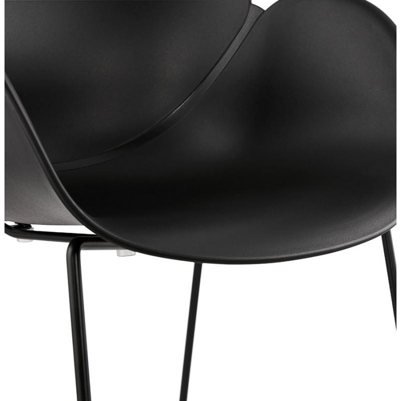 Chaise design CIRSE en polypropylène pieds métal couleur noire (noir) - image 43277