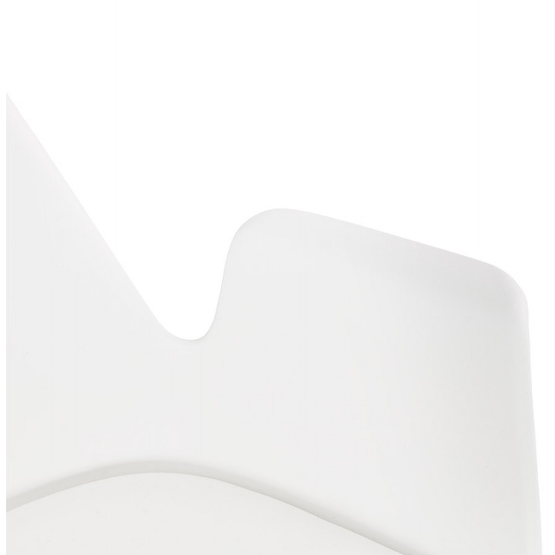 Industrial design chair with ORCHIS armrests in polypropylene (white) - image 43312