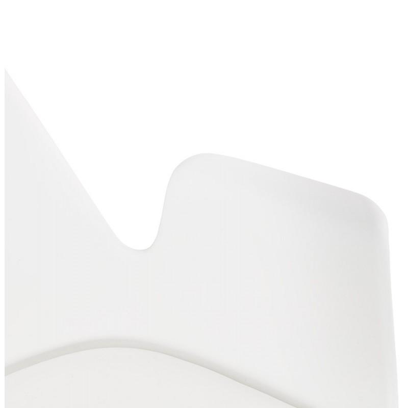Chaise design industrielle avec accoudoirs ORCHIS en polypropylène (blanc) - image 43312