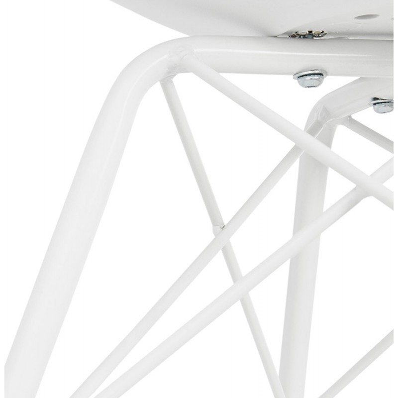 Industrial design chair with ORCHIS armrests in polypropylene (white) - image 43314