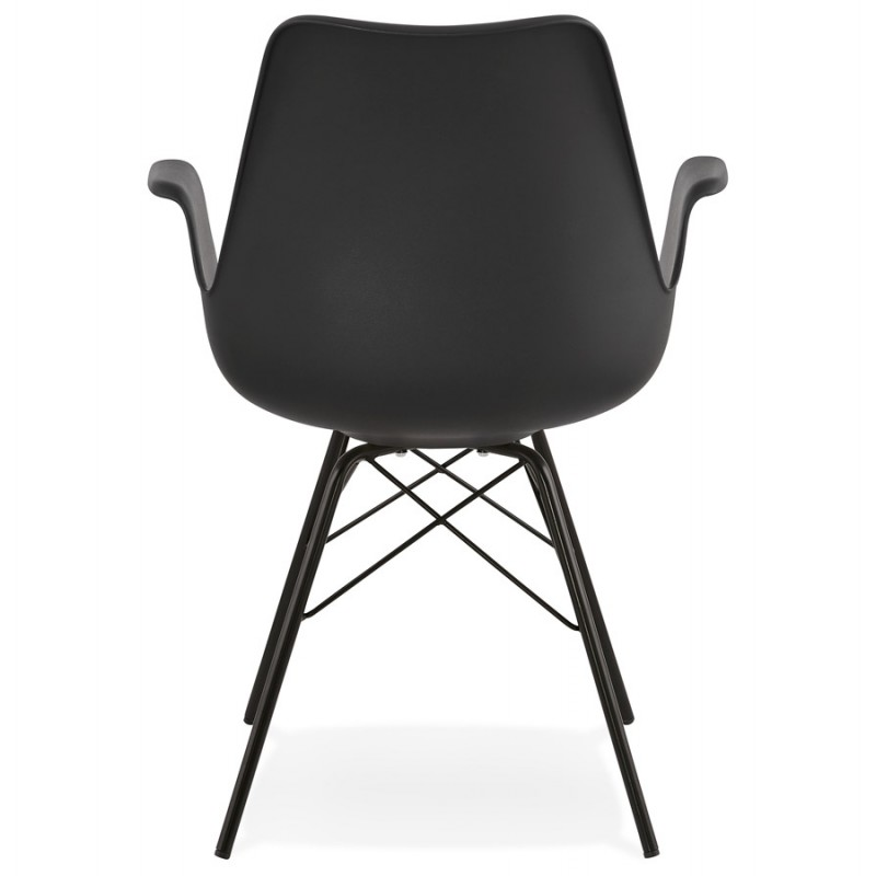 Industriedesignstuhl mit ORCHIS Armlehnen aus Polypropylen (schwarz) - image 43320