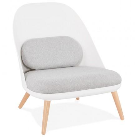 AGAVE Skandinavischer Design-Lounge-Sessel (weiß, hellgrau)