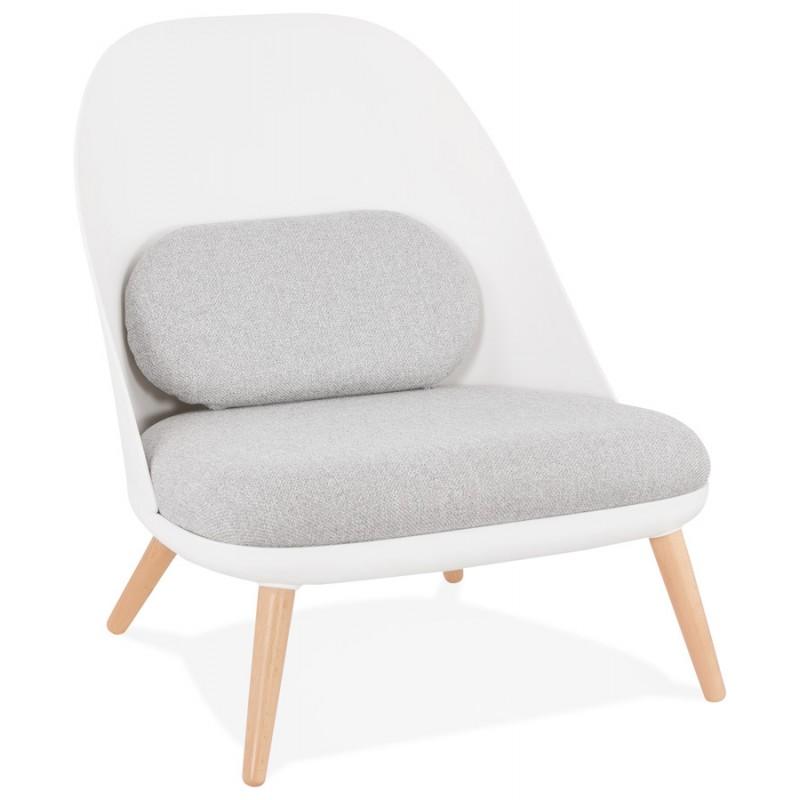 AGAVE Skandinavischer Design-Lounge-Sessel (weiß, hellgrau) - image 43326