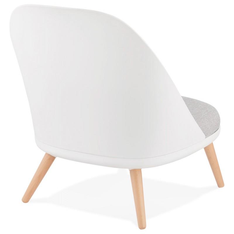 AGAVE Skandinavischer Design-Lounge-Sessel (weiß, hellgrau) - image 43329