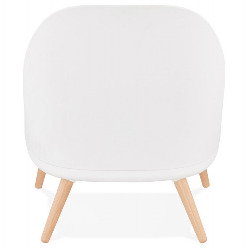 Fauteuil lounge design scandinave AGAVE (blanc, gris clair) - image 43330
