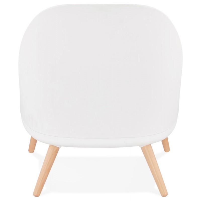Silla de salón de diseño escandinavo AGAVE (blanco, gris claro) - image 43330