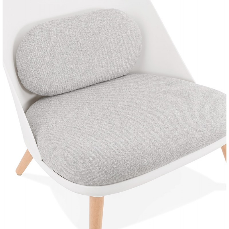 Fauteuil lounge design scandinave AGAVE (blanc, gris clair) - image 43331
