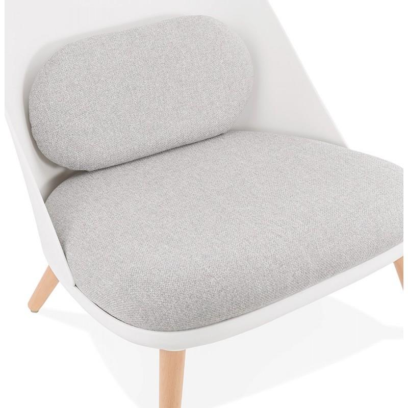 Silla de salón de diseño escandinavo AGAVE (blanco, gris claro) - image 43331