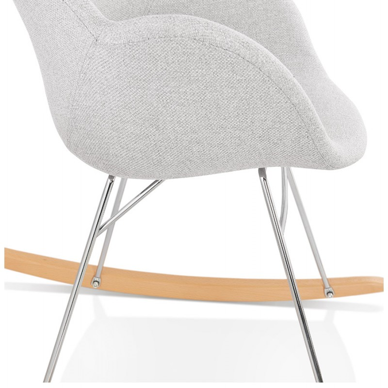Fauteuil à bascule design EDEN en tissu (gris clair) - image 43344