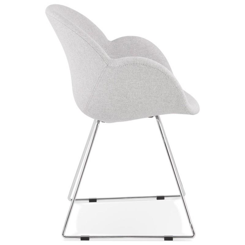 Chaise design pied effilé ADELE en tissu (gris clair) - image 43353