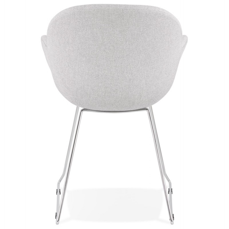 ADELE tapered foot design chair in fabric (light grey) - image 43355