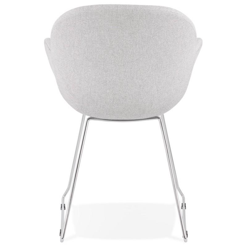 Chaise design pied effilé ADELE en tissu (gris clair) - image 43355