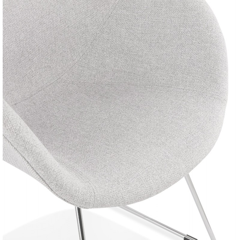 ADELE tapered foot design chair in fabric (light grey) - image 43357