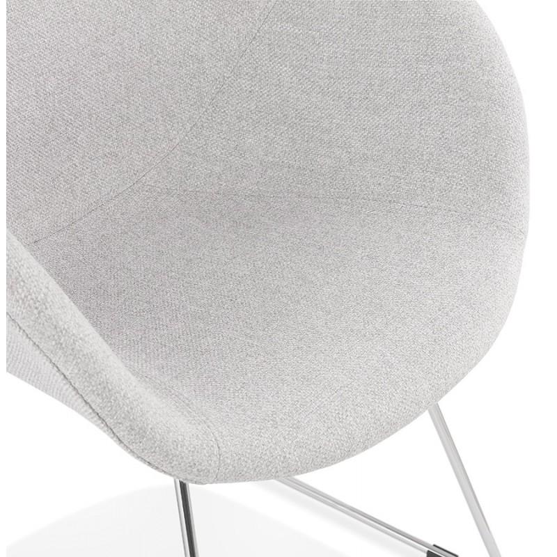 Chaise design pied effilé ADELE en tissu (gris clair) - image 43357
