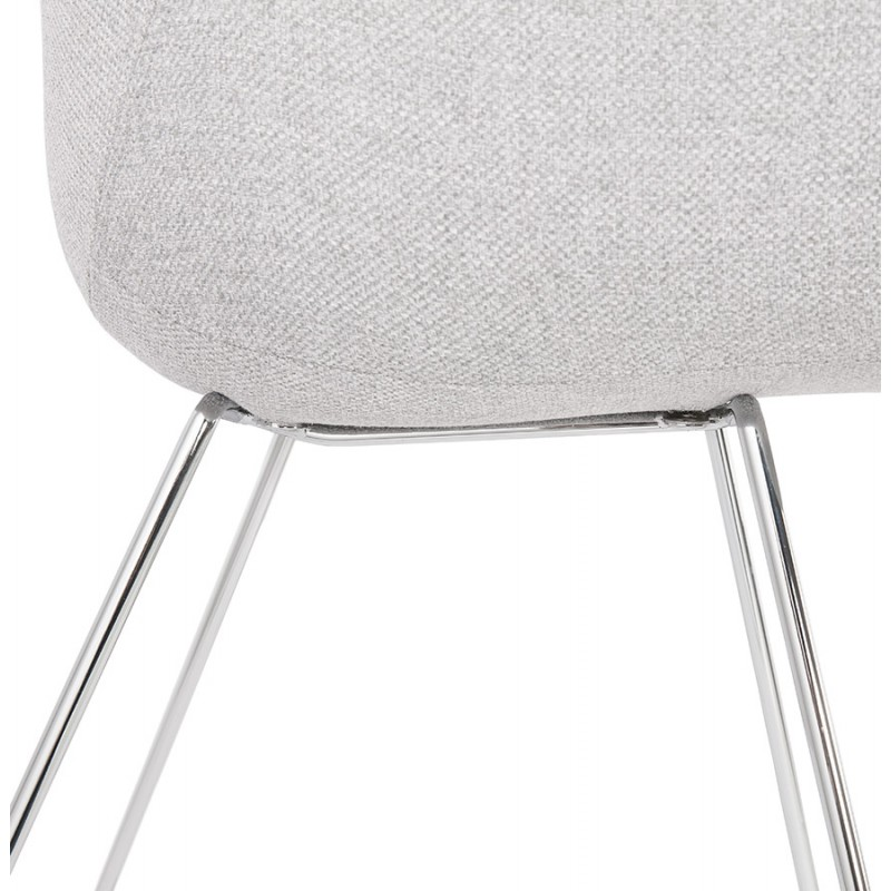 ADELE tapered foot design chair in fabric (light grey) - image 43358