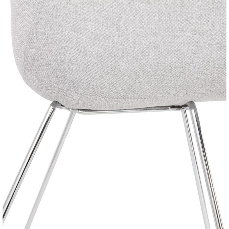 Chaise design pied effilé ADELE en tissu (gris clair) - image 43358