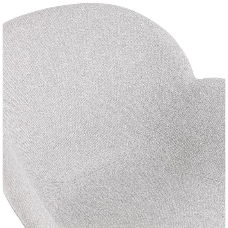 Chaise design style industriel TOM en tissu pieds métal noir (gris clair) - image 43382