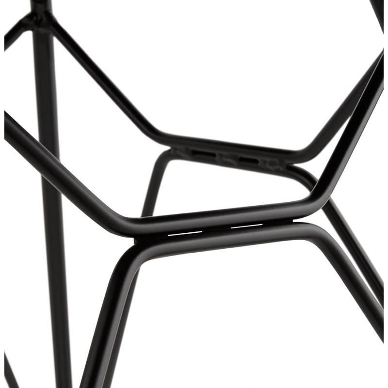 Chaise design style industriel TOM en tissu pieds métal noir (gris clair) - image 43387