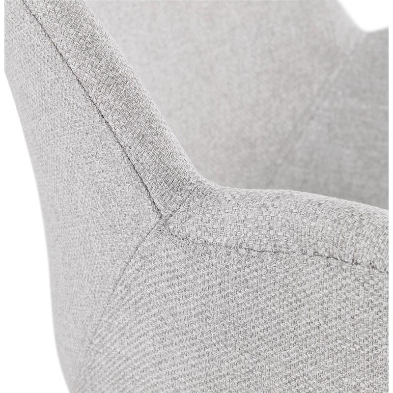 Chaise design style industriel TOM en tissu pieds métal chromé (gris clair) - image 43398