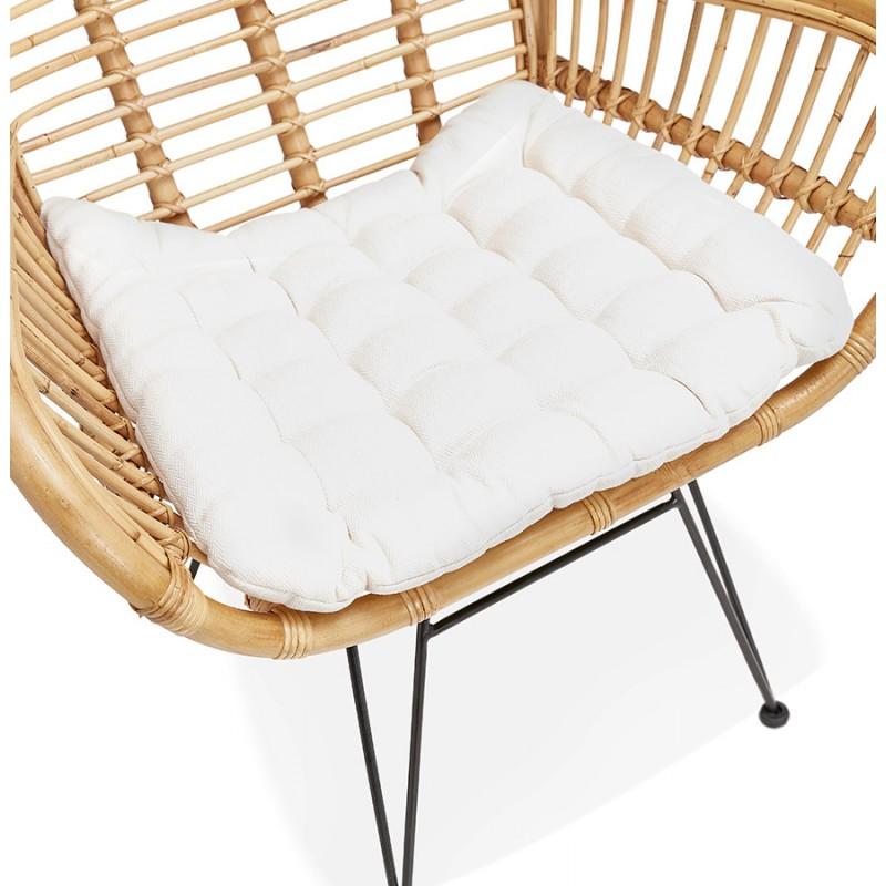Rattan chair with PITAYA foot restless black (natural) - image 43442