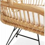 Rattan chair with PITAYA foot restless black (natural)