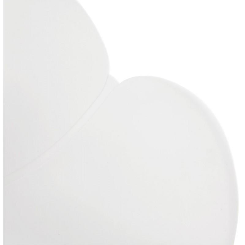 Chaise de bureau sur roulettes SORBIER en polypropylène pieds métal chromé (blanc) - image 43462