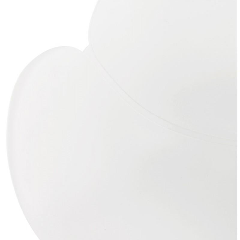 Chaise de bureau sur roulettes SORBIER en polypropylène pieds métal chromé (blanc) - image 43463