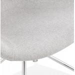 Sedia da ufficio su ruote CAPUCINE in tessuto (grigio chiaro)