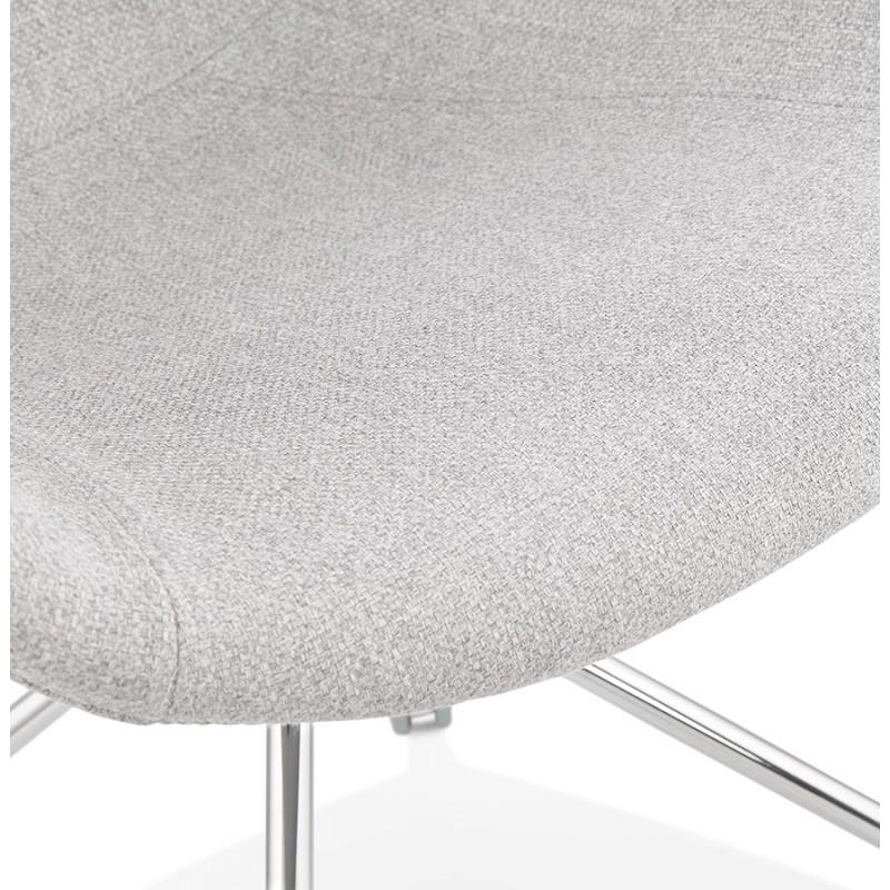 Chaise de bureau sur roulettes CAPUCINE en tissu (gris clair) - image 43511