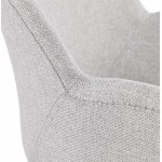 Chaise de bureau sur roulettes CAPUCINE en tissu (gris clair)