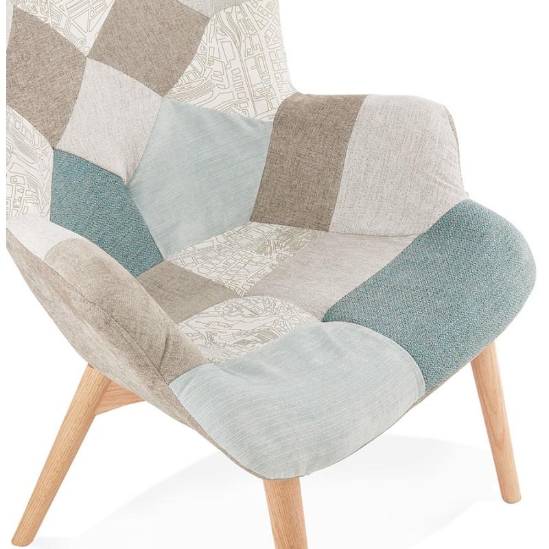 SEDIA patchwork di design scandinavo LOTUS (blu, grigio, beige) - image 43578
