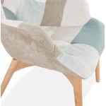 Silla de parchede de diseño escandinavo LOTUS (azul, gris, beige)