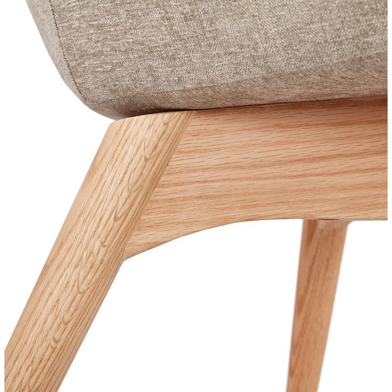 Fauteuil patchwork design scandinave LOTUS (bleu, gris, beige) - image 43584