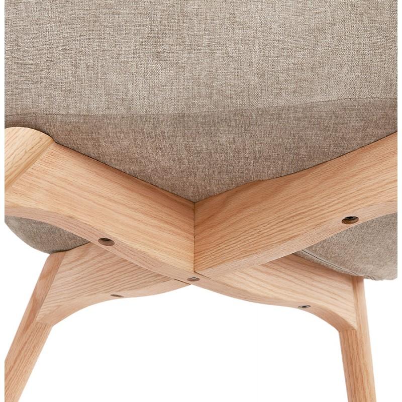 Fauteuil patchwork design scandinave LOTUS (bleu, gris, beige) - image 43585