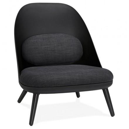 Silla de salón de diseño escandinavo AGAVE (gris oscuro, negro)