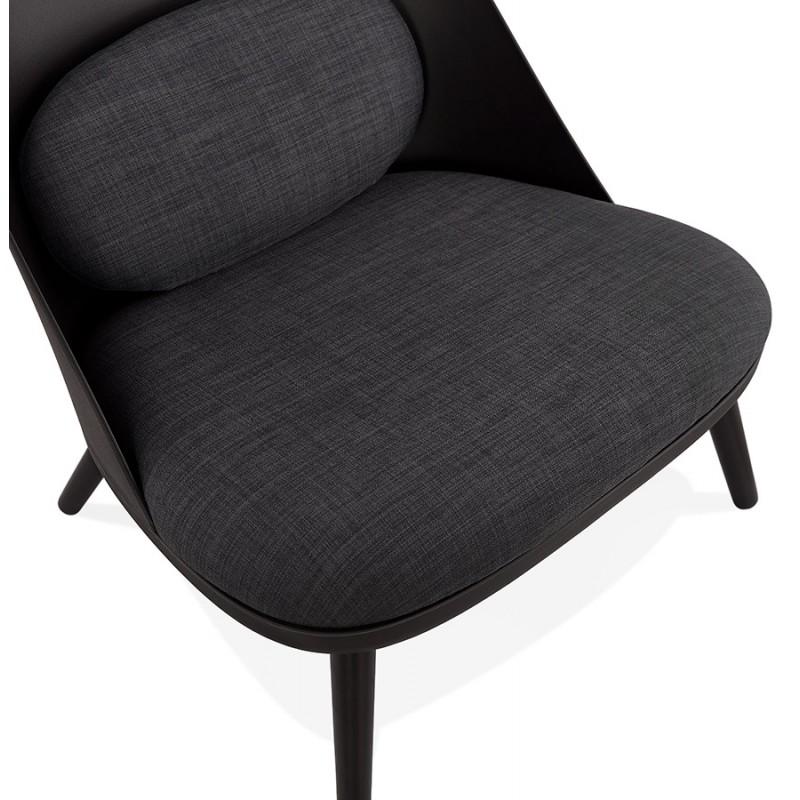 Fauteuil lounge design scandinave AGAVE (gris foncé, noir) - image 43592