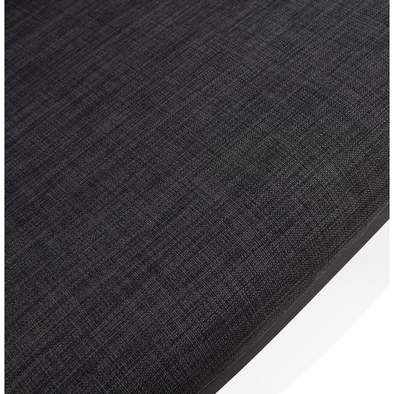 Fauteuil lounge design scandinave AGAVE (gris foncé, noir) - image 43593