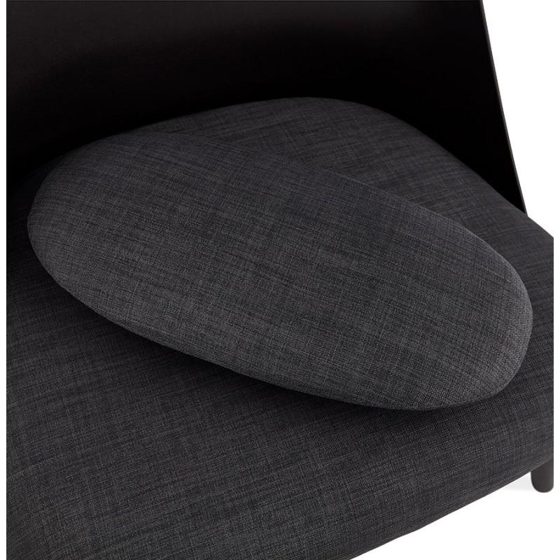 Fauteuil lounge design scandinave AGAVE (gris foncé, noir) - image 43594
