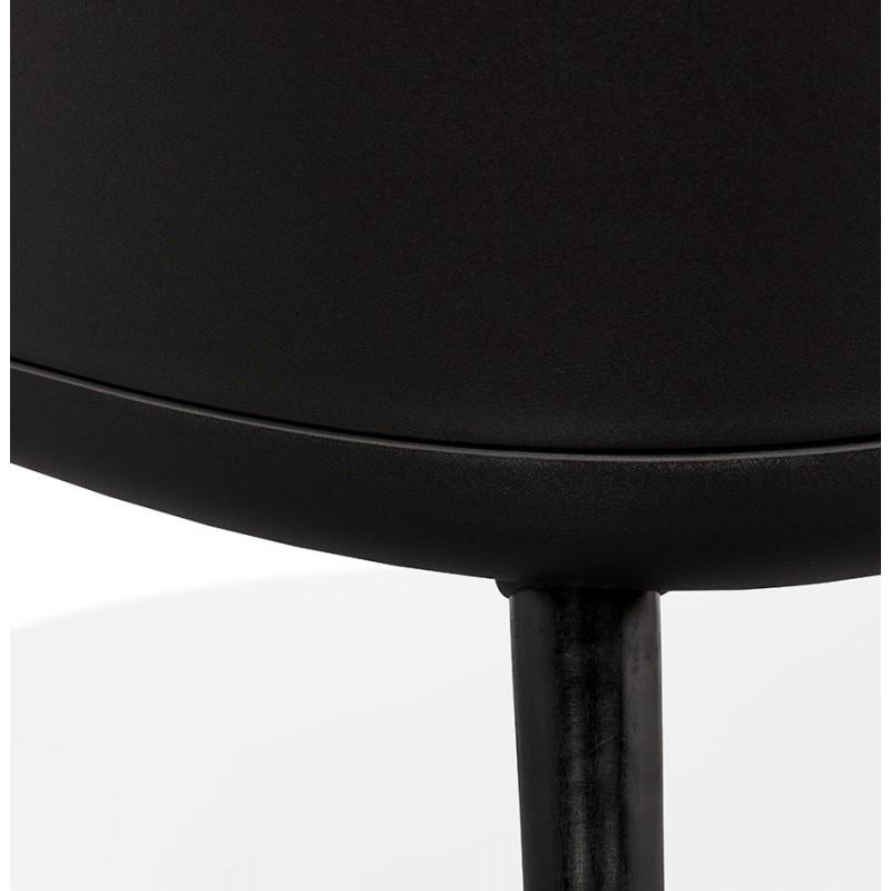 Fauteuil lounge design scandinave AGAVE (gris foncé, noir) - image 43597
