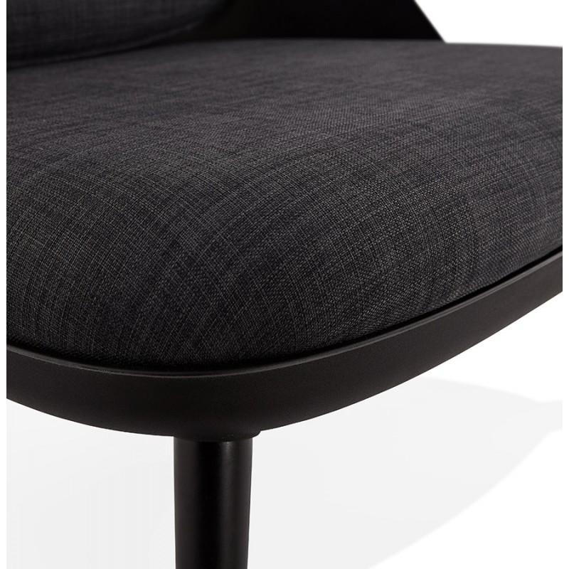 Fauteuil lounge design scandinave AGAVE (gris foncé, noir) - image 43598
