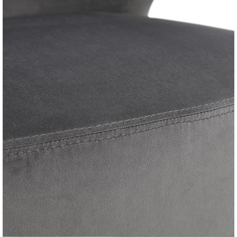 Silla de diseño YASUO en pies de terciopelo negro (gris) - image 43604