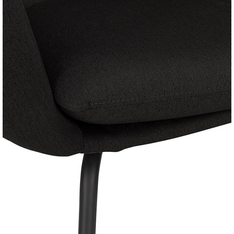 Fauteuil à oreilles contemporain LICHIS en tissu (noir) - image 43622