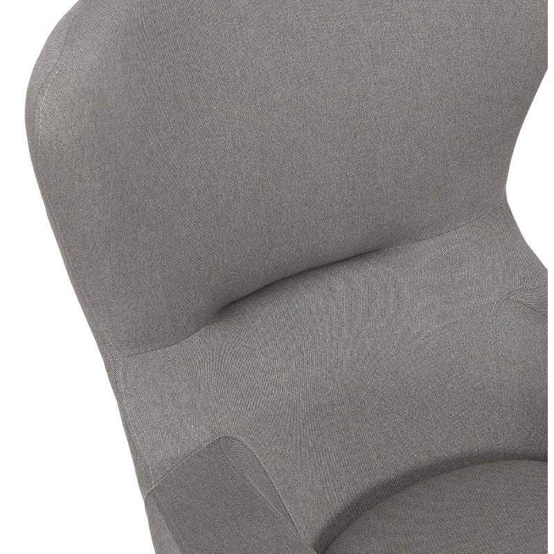 Fauteuil à oreilles contemporain  LICHIS en tissu (gris clair) - image 43633