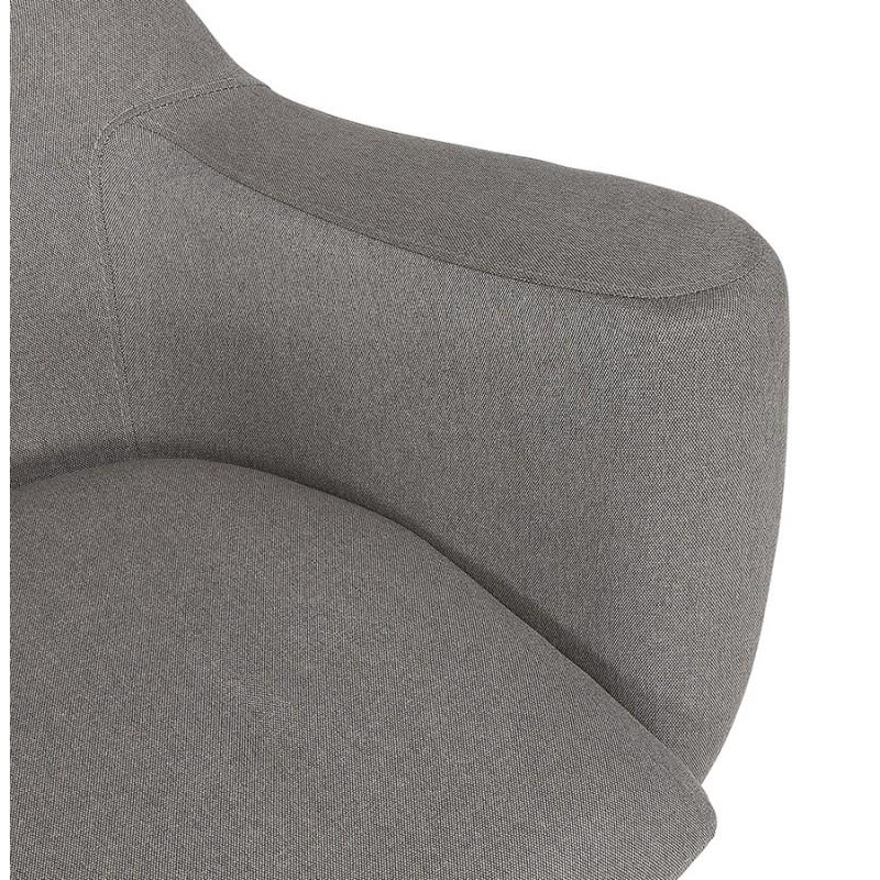Fauteuil à oreilles contemporain  LICHIS en tissu (gris clair) - image 43636