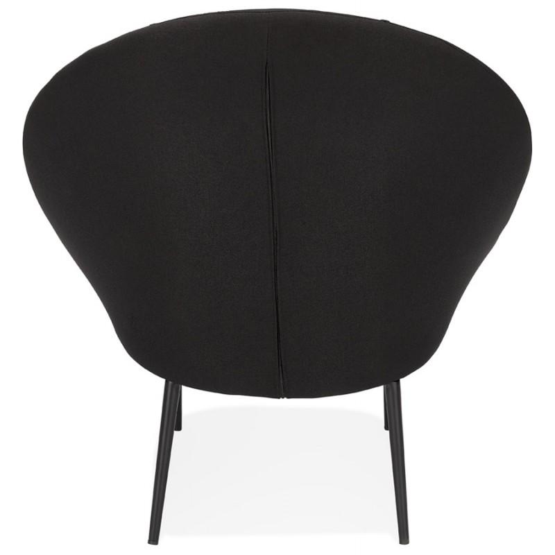 Fauteuil design lounge GOYAVE en tissu (noir) - image 43647