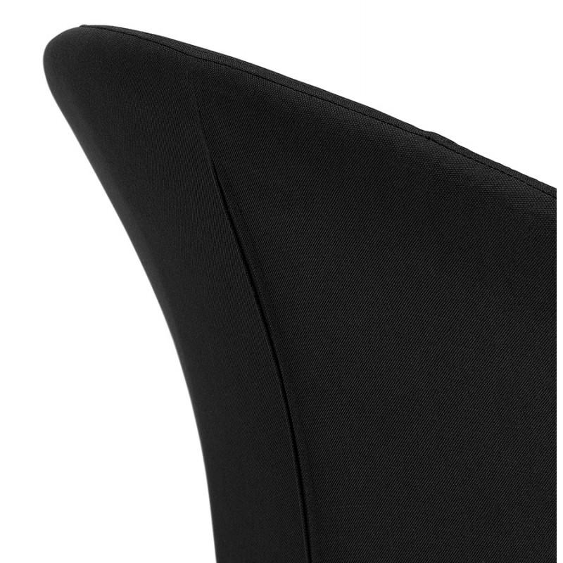 Fauteuil design lounge GOYAVE en tissu (noir) - image 43653