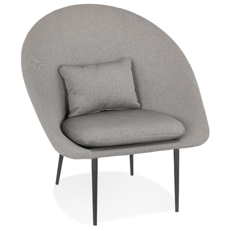Fauteuil design lounge GOYAVE en tissu (gris clair) - image 43657