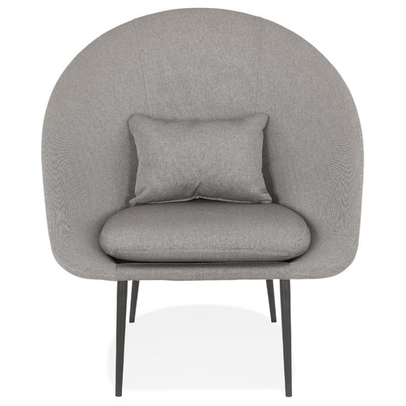 Fauteuil design lounge GOYAVE en tissu (gris clair) - image 43658